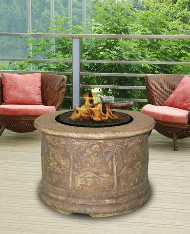 Palm Chat Height Gas/Propane Fire Pit Table - Fire Pit Plaza - 1
