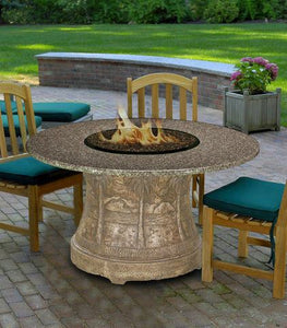 Palm Dining Height Gas/Propane Fire Pit Table - Fire Pit Plaza - 1
