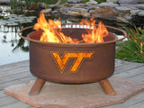 Virginia Tech Hokies Fire Pit Grill - Fire Pit Plaza - 1
