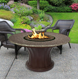 Rodeo Chat Height Gas/Propane Fire Pit Table - Fire Pit Plaza - 5