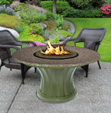 Rodeo Chat Height Gas/Propane Fire Pit Table - Fire Pit Plaza - 17