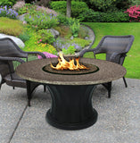 Rodeo Chat Height Gas/Propane Fire Pit Table - Fire Pit Plaza - 9