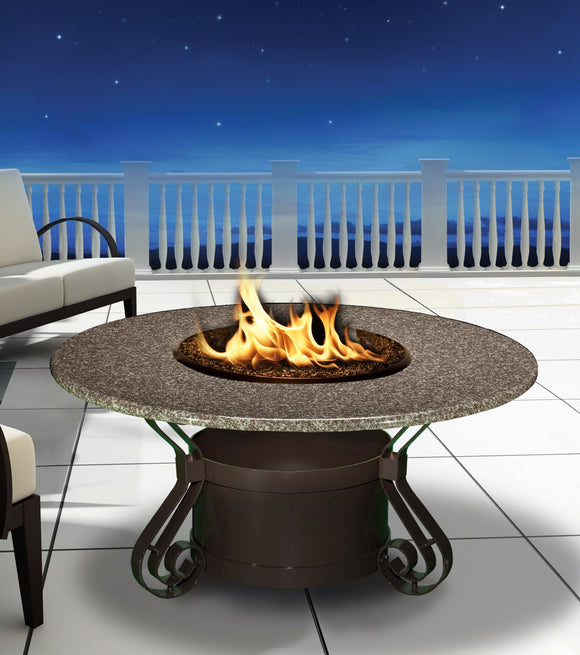 Solano Chat Height Gas/Propane Fire Pit Table - Fire Pit Plaza - 1