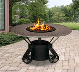 Solano Dining Height Gas/Propane Fire Pit Table - Fire Pit Plaza - 5