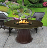 Rodeo Chat Height Gas/Propane Fire Pit Table - Fire Pit Plaza - 7