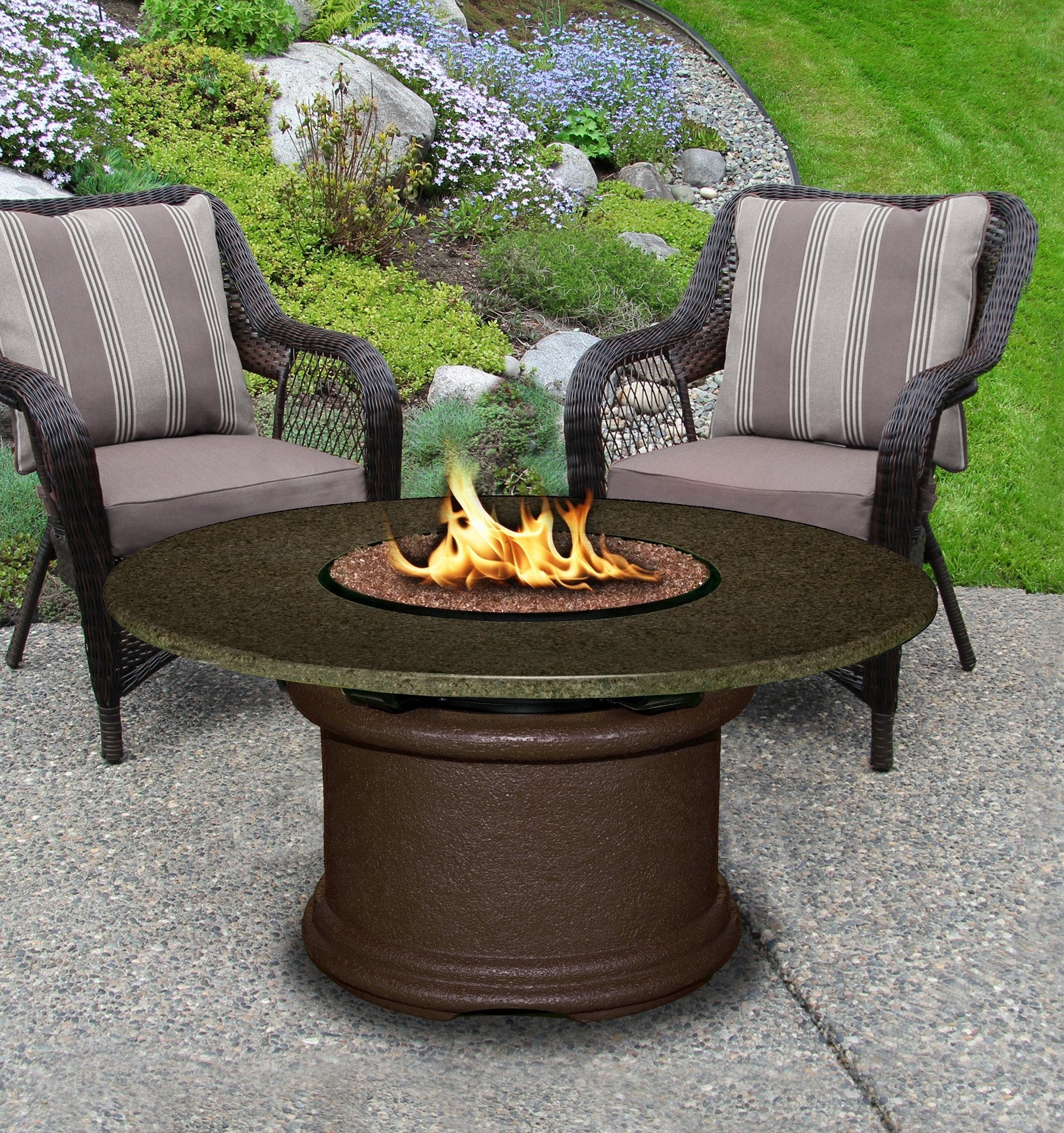 Del Mar Chat Height Gas Propane Fire Pit Table – Fire Pit Plaza