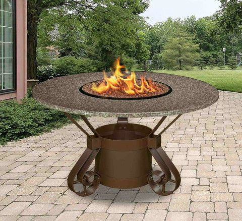 Solano Dining Height Gas/Propane Fire Pit Table - Fire Pit Plaza - 1