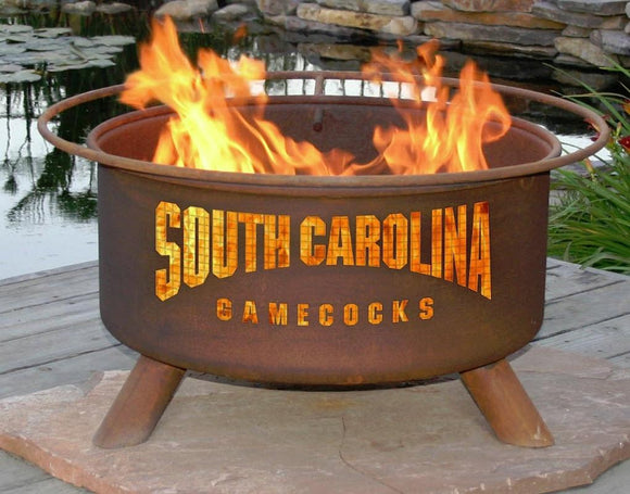 South Carolina Gamecocks Fire Pit Grill - Fire Pit Plaza - 1