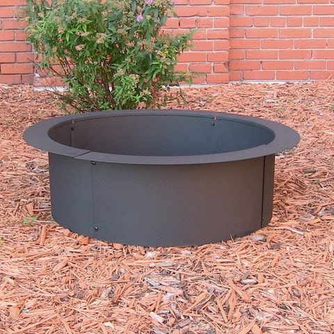 "Sunnydaze Decor  Heavy Duty  Fire Pit Ring for in Ground Fire Pit 27"" - Fire Pit Plaza"