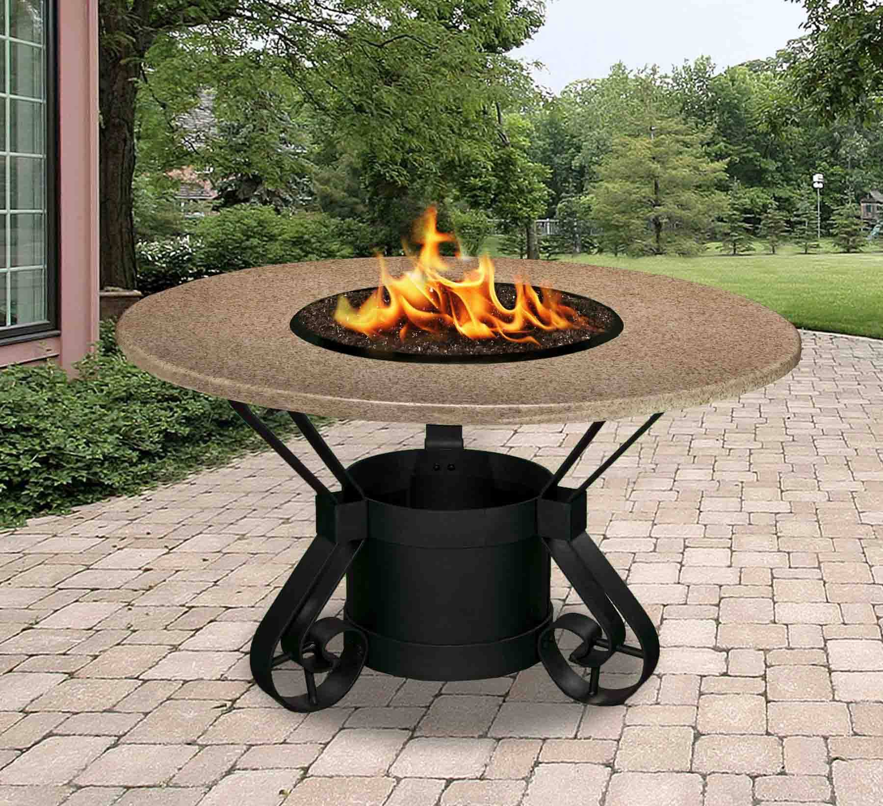 Solano Dining Height Gas Propane Fire Pit Table Fire Pit