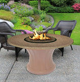 Rodeo Chat Height Gas/Propane Fire Pit Table - Fire Pit Plaza - 14