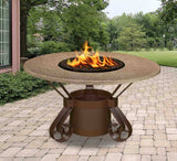 Solano Dining Height Gas/Propane Fire Pit Table - Fire Pit Plaza - 2