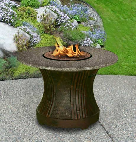Tradewinds Dining Height Gas/Propane Fire Pit Table - Fire Pit Plaza - 1