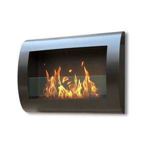 Bio-ethanol Fireplaces - Anywhere Fireplace Chelsea Black Wall Mount Fireplace 27.5""