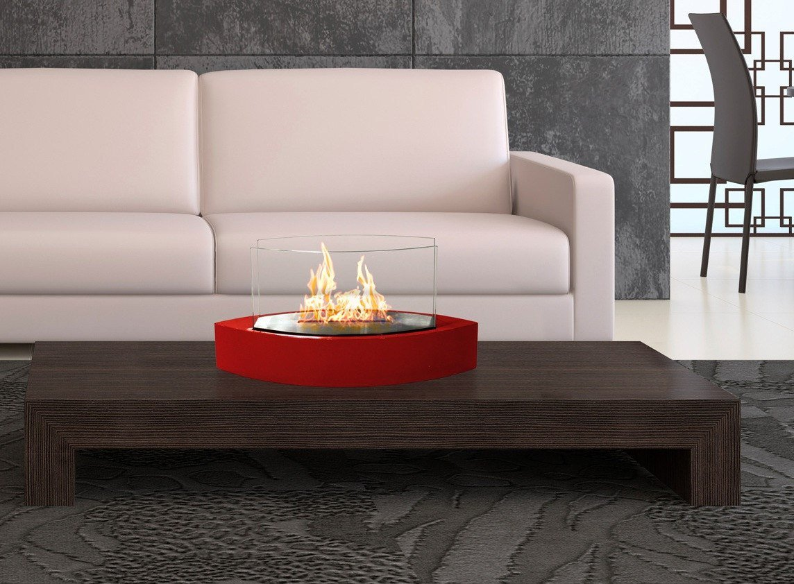 "Anywhere Fireplace Lexington 20"" Tabletop Fireplace. Featuring Glass Panels. Burns Clean With Bio Ethanol Fuel. A Lovely Addition To Your Table."