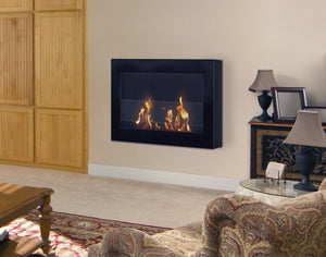 Bio-ethanol Fireplaces - Anywhere Fireplace SoHo Black Wall Mount Fireplace 27.5""