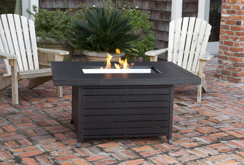 Fire Pit - Fire Sense Extruded Aluminum Rectangular LPG Fire Pit
