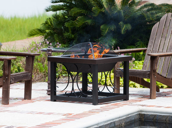 Fire Pit - Fire Sense Hammer Tone Bronze Finish Cocktail Table Fire Pit