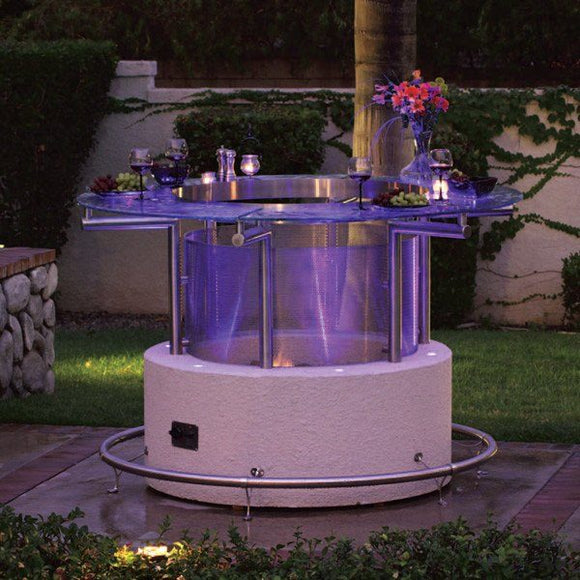 CalFlame Natural Gas/Propane Fire Pit Bar table - Fire Pit ...