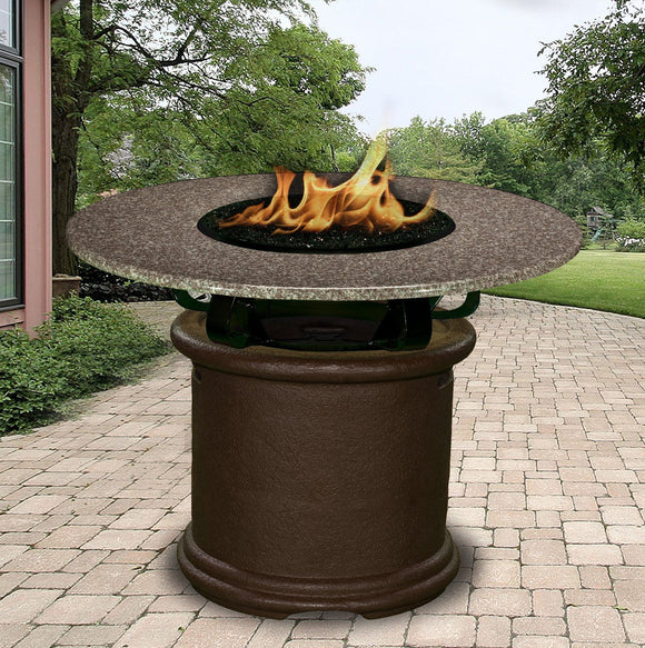 Fire Pit Table - Del Mar Balcony Height Gas/Propane Fire Pit Table