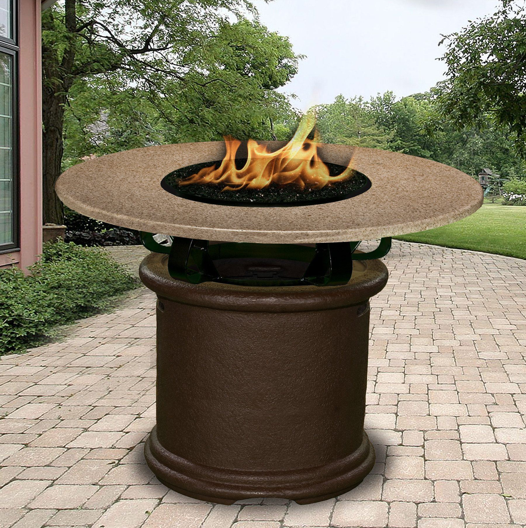 ... Fire Pit Table   Del Mar Balcony Height Gas/Propane Fire Pit Table ...