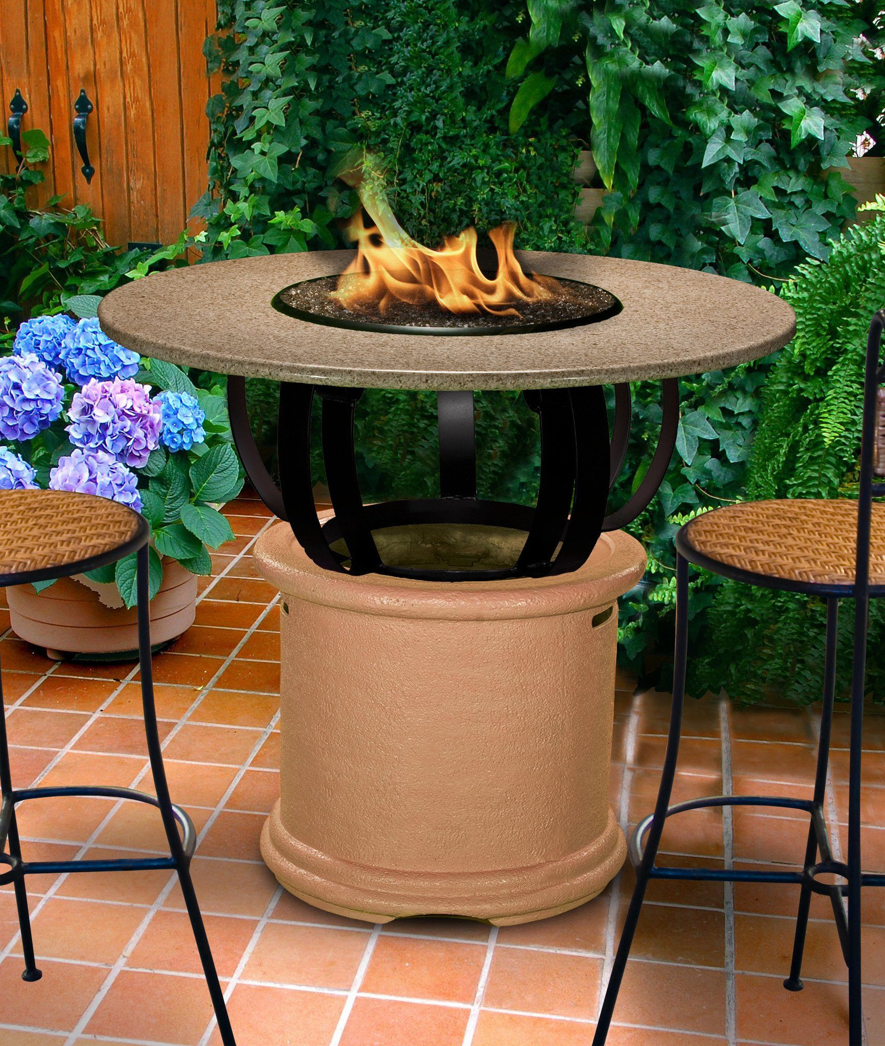 ... Fire Pit Table   Del Mar Bar Height Gas/Propane Fire Pit Table ...