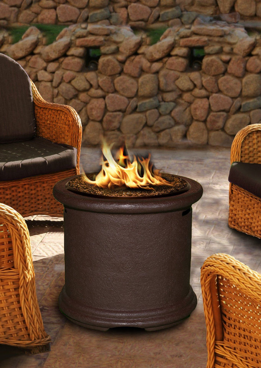 Island Chat Height Gas Propane Fire Pit Table Fire Pit Plaza