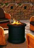 Fire Pit Table - Island Chat Height Gas/Propane Fire Pit Table