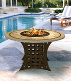 Fire Pit Table - La Costa Dining Height Gas/Propane Fire Pit Table