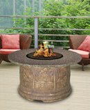 Fire Pit Table - Palm Chat Height Gas/Propane Fire Pit Table