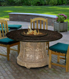 Fire Pit Table - Palm Dining Height Gas/Propane Fire Pit Table