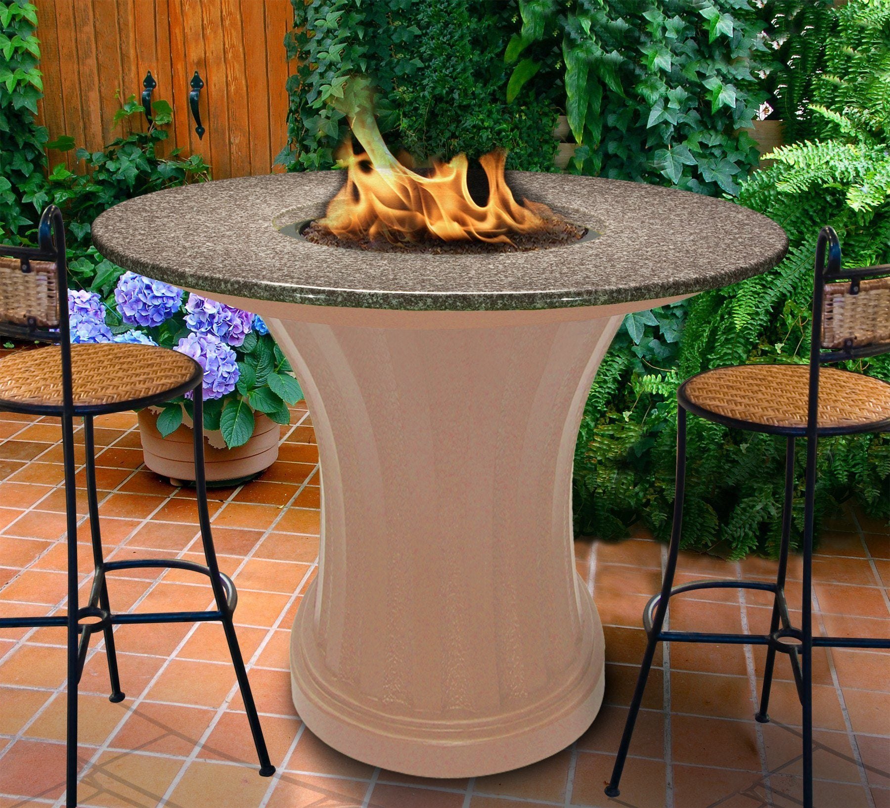 ... Fire Pit Table   Rodeo Balcony Height Gas/Propane Fire Pit Table ...