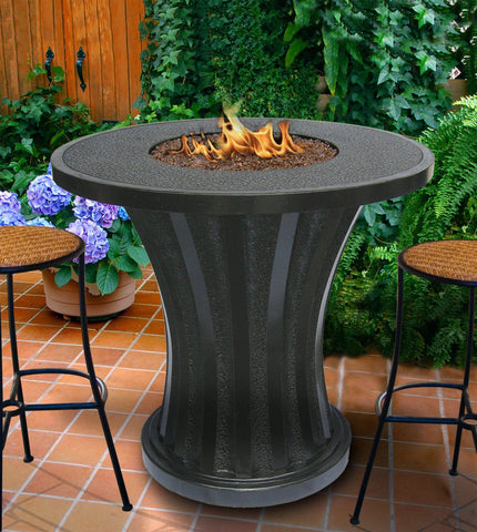 fire pit table rodeo balcony height gaspropane fire pit table