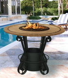 Fire Pit Table - Solano Bar Height Gas/Propane Fire Pit Table