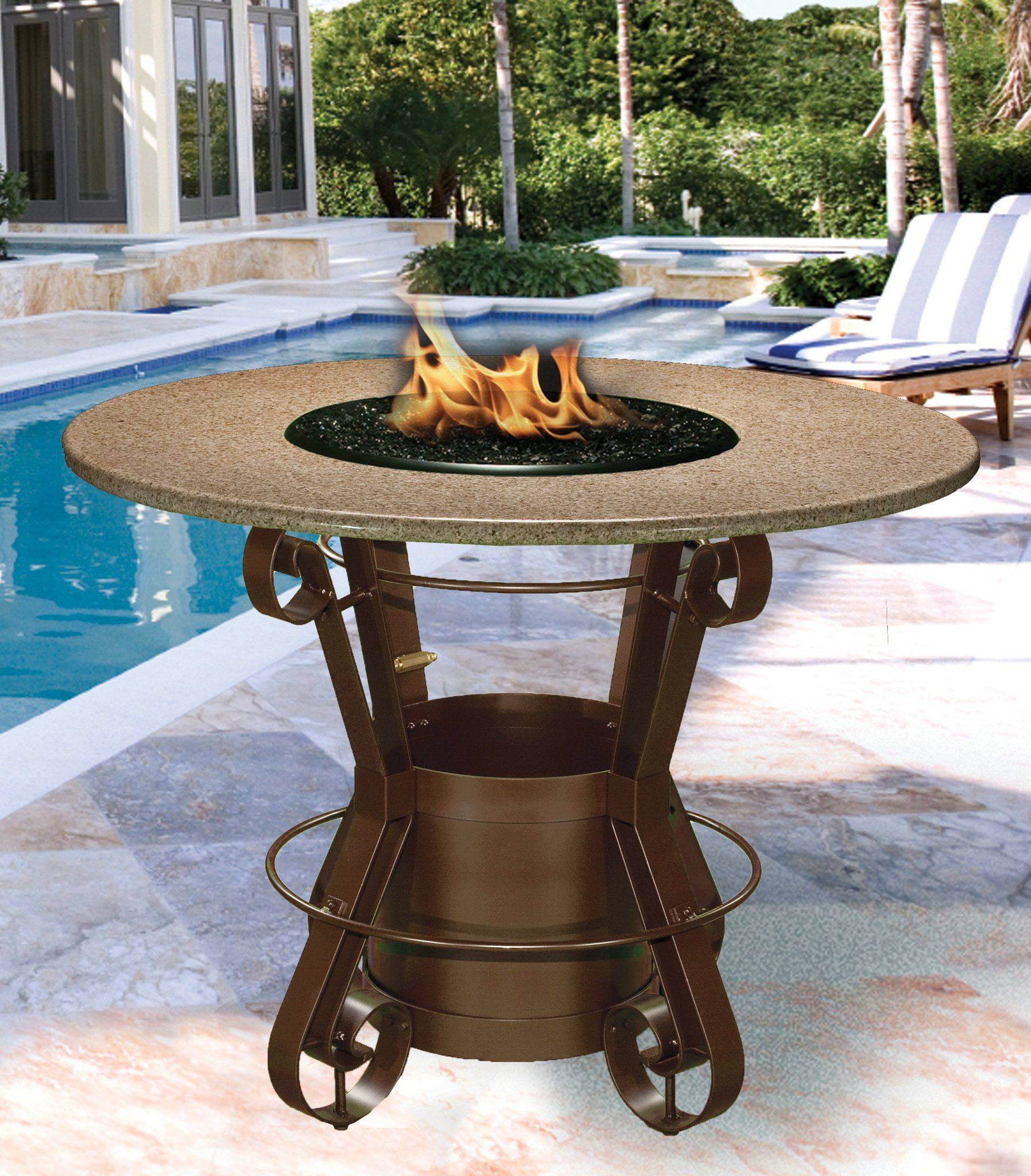 Solano Bar Height Gas Propane Fire Pit Table Fire Pit Plaza