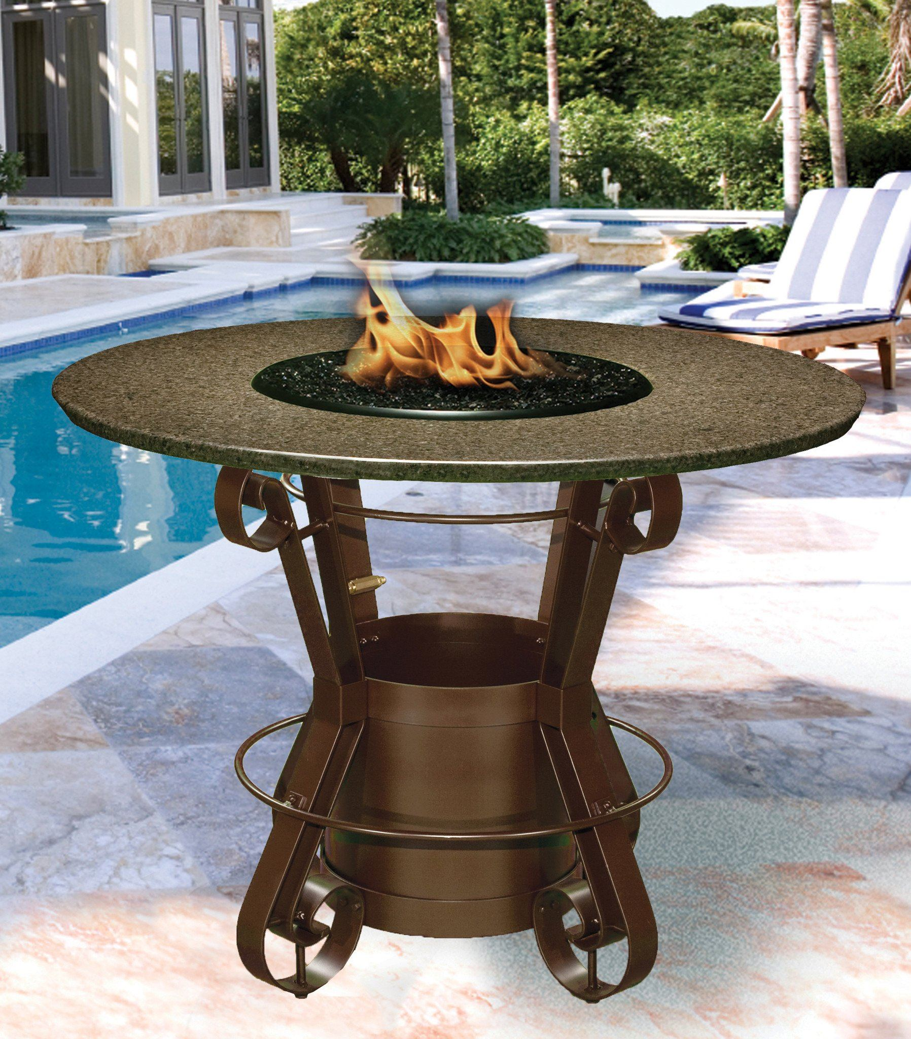 Picture of: Solano Bar Height Gas Propane Fire Pit Table Fire Pit Plaza