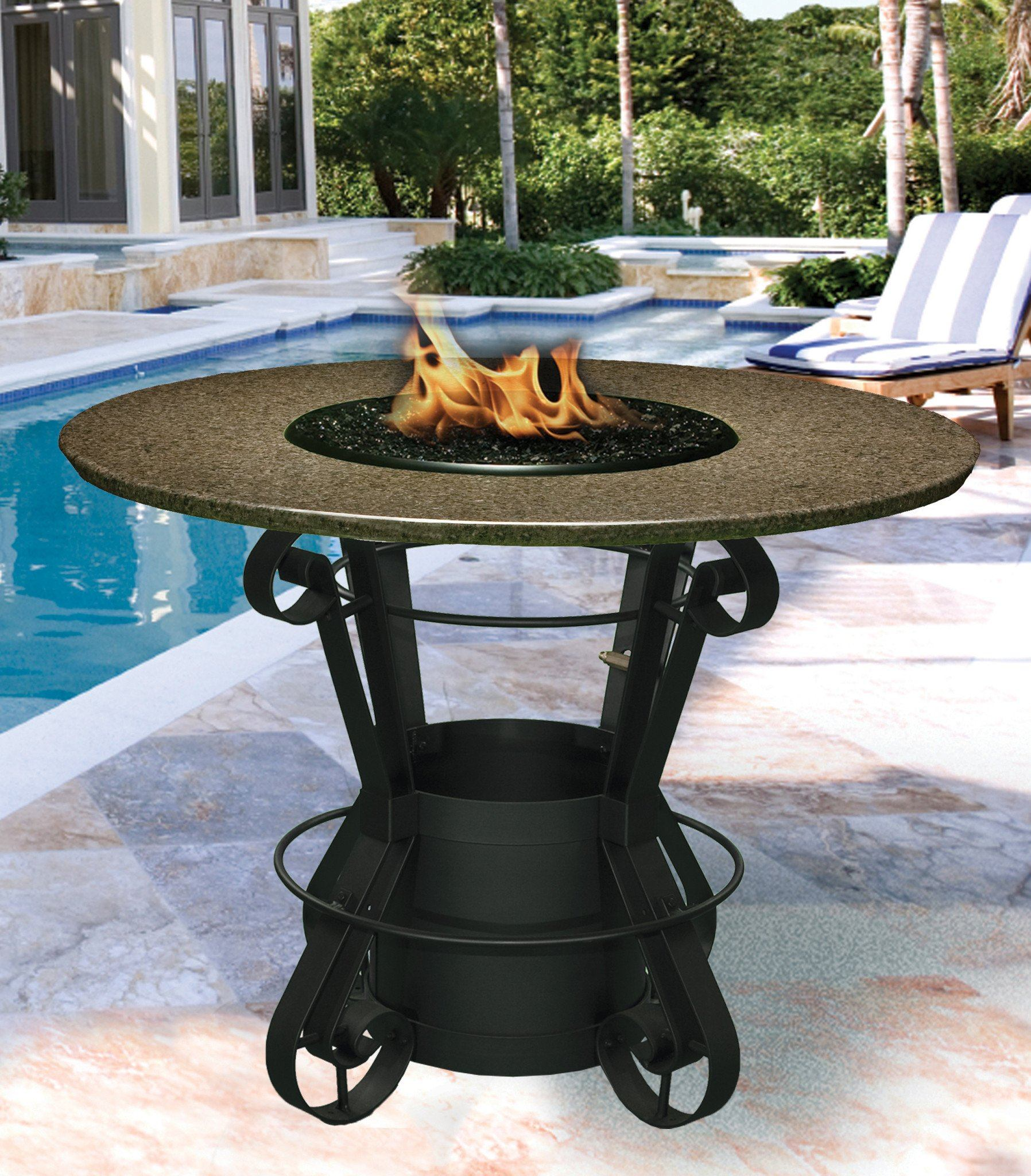 Solano Bar Height Gas/Propane Fire Pit Table - Fire Pit Plaza