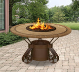 Fire Pit Table - Solano Dining Height Gas/Propane Fire Pit Table