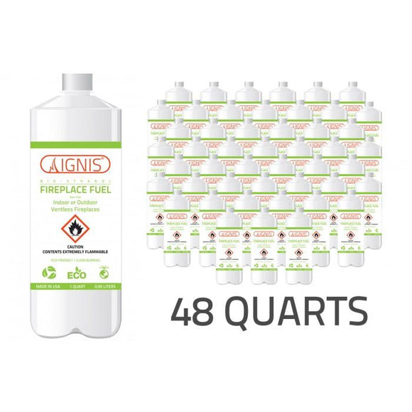 Bio Ethanol Fireplace Fuel - 48 Pack