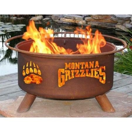 Montana Grizzlies Fire Pit Grill - Fire Pit Plaza - 1