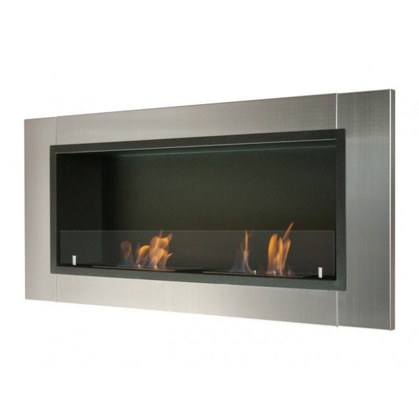 Ignis Lata Wall Mounted Recessed Ethanol Fireplace W Glass