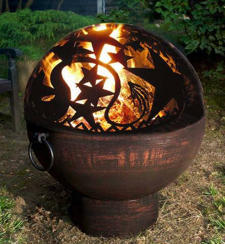 "Good Directions 26"" Fire Bowl with Orion Fire Dome - Fire Pit Plaza"