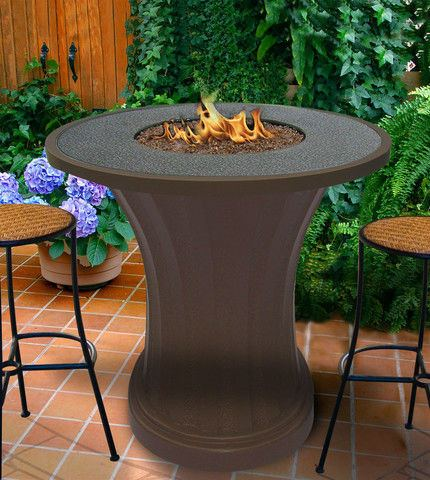 Rodeo Balcony Height Gas/Propane Fire Pit Table - Fire Pit Plaza - 1