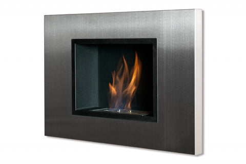 Recessed Ethanol Fireplace - Ignis Quadra Recessed Ventless Ethanol Fireplace 31""