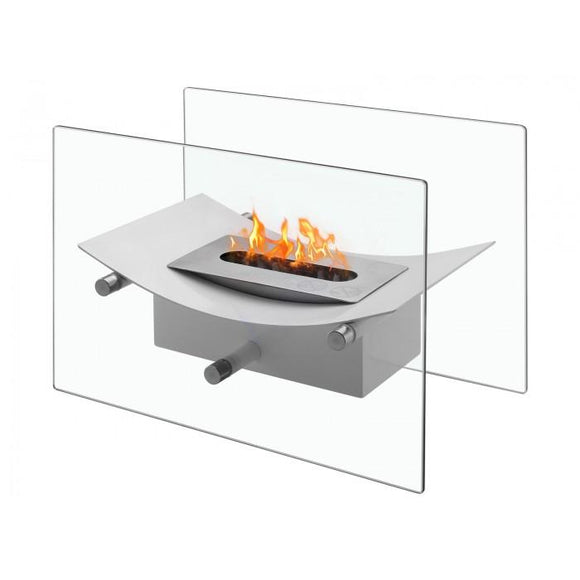 Verona White - Tabletop Ventless Ethanol Fireplace