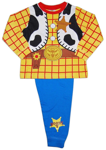 Boy's 'Woody' Costume Pyjamas, featuring Woody Shirt design on Top, and Woody logo on Bottoms.