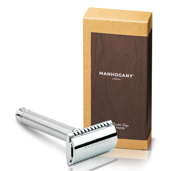 Manhogany Double-Edged Safety Razor - Chrome Finish