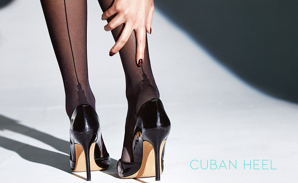 What is Cuban heel on stockings?