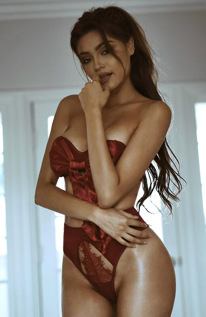 Red bow lingerie - XoXo