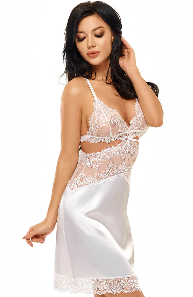White satin nightie - Ameli